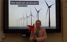 Stroom van windmolens