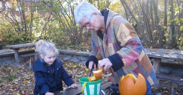 Peuters ontdekken de herfst; binnen en in de Torteltuin!